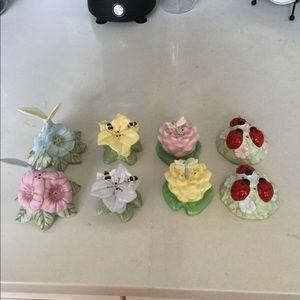 4 sets Lenox Butterfly Meadow salt & pepper shaker